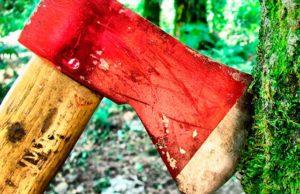 Топор красный